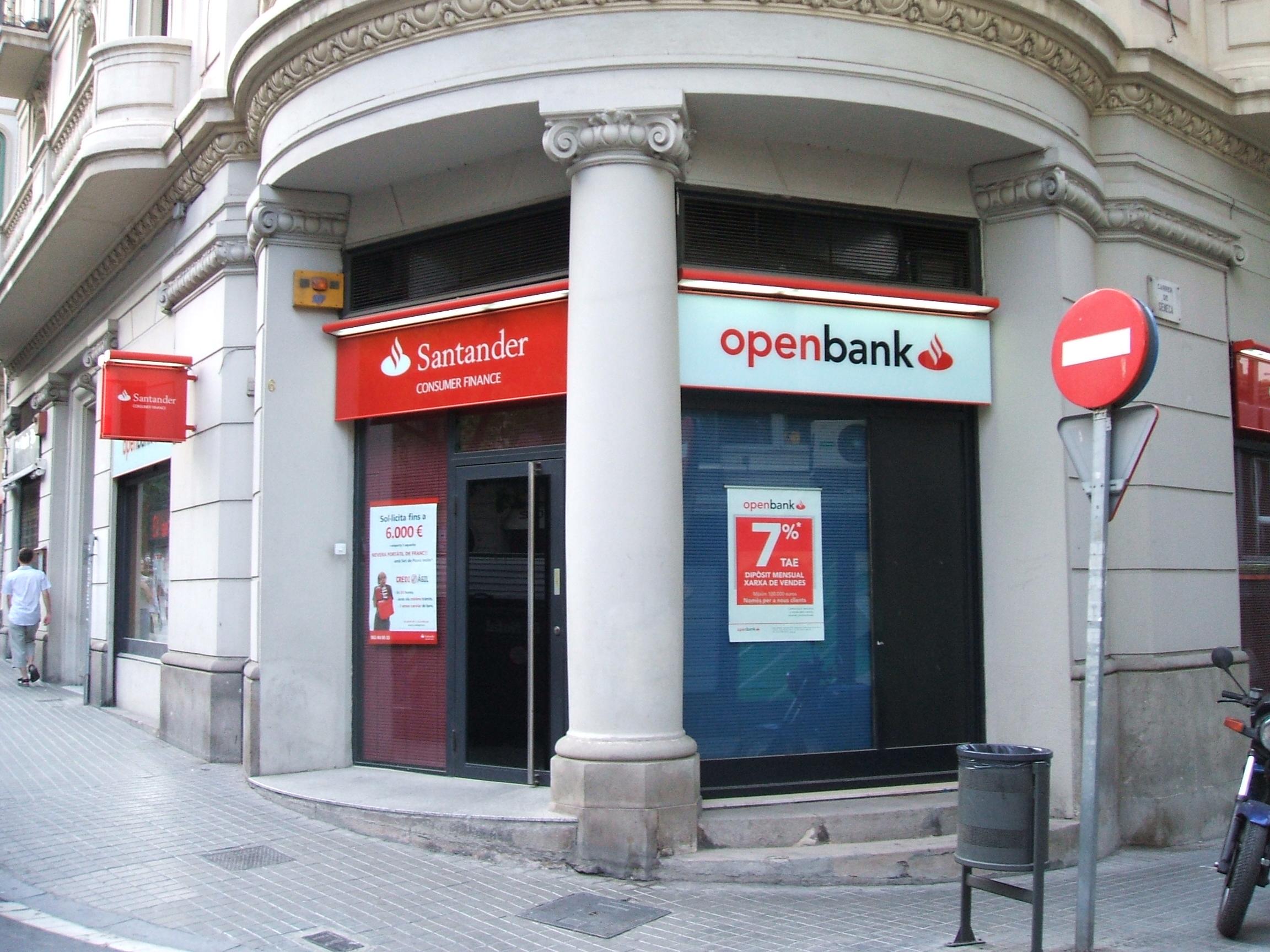 Banco santander for Banco santander sucursales barcelona
