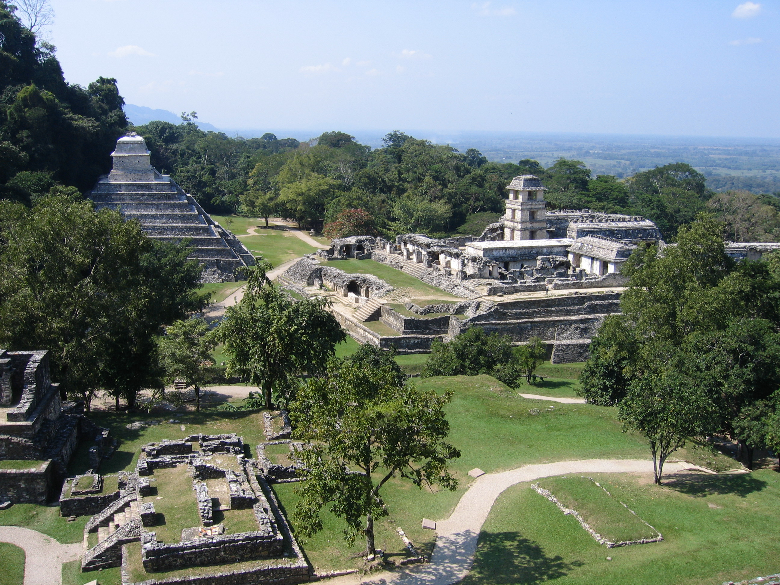 Ruiny mayské civilizace u Palenque