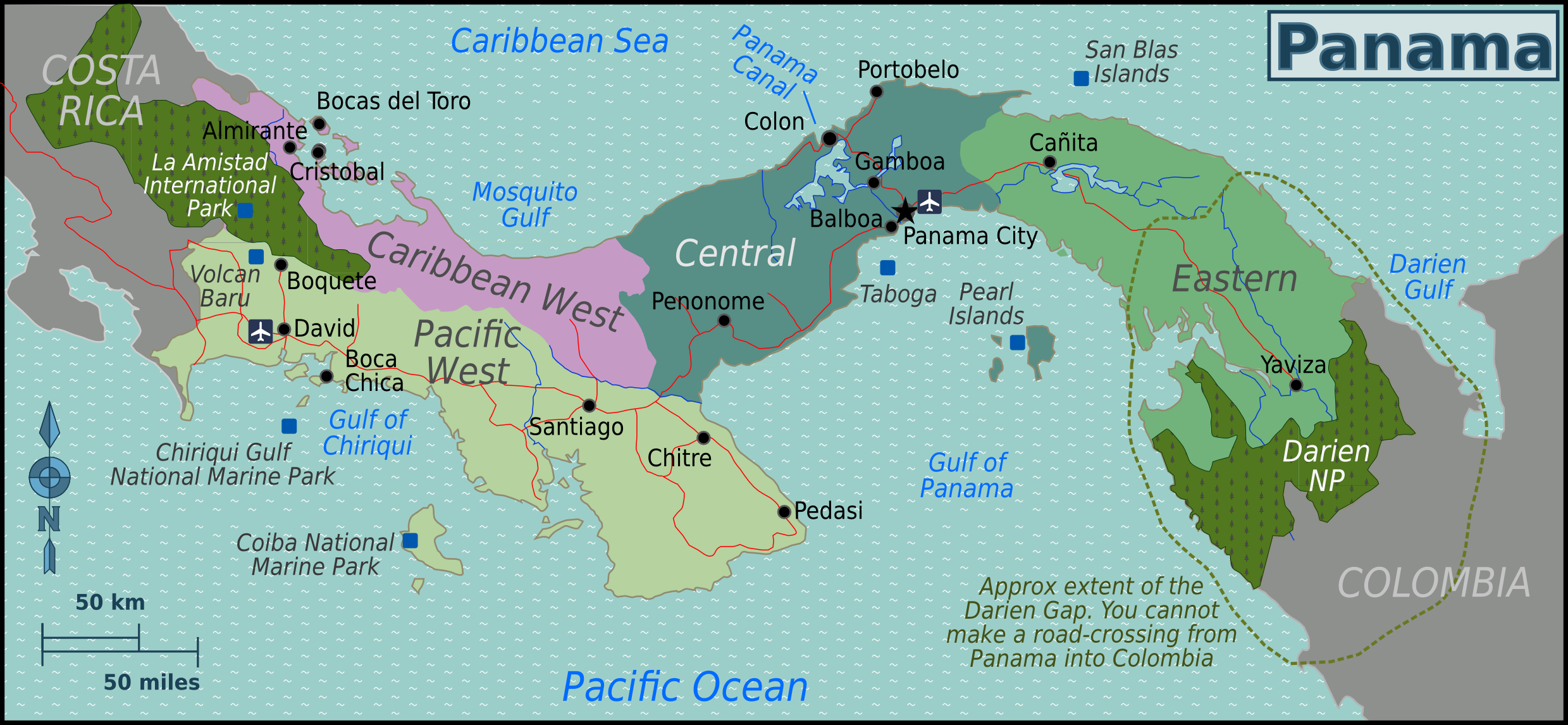 Description Panama Regions map.png