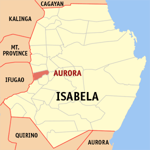 Mapa na Isabela ya nanengneng so location na Aurora
