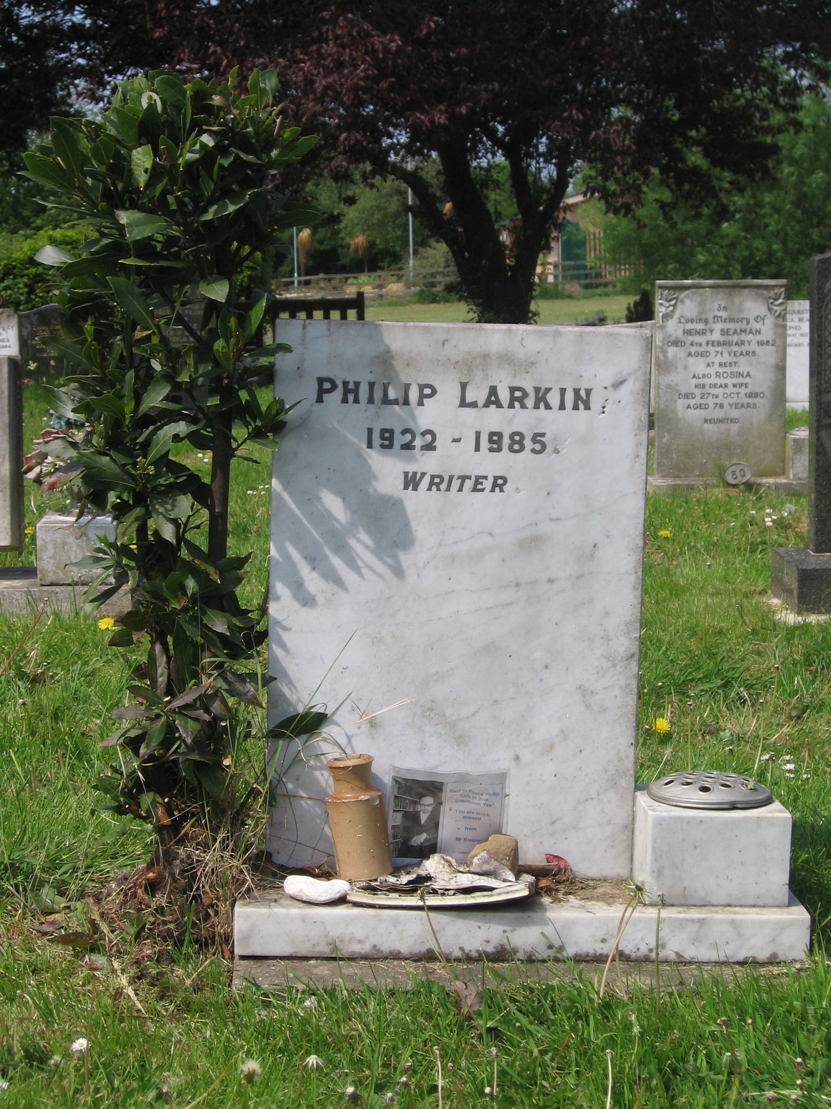 Image result for larkin grave