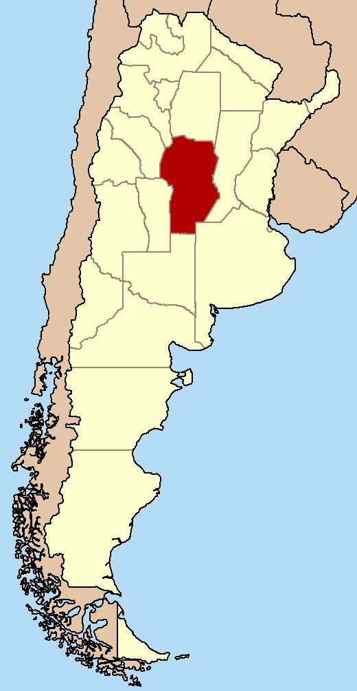 Image result for Map of Argentina, highlight Córdoba
