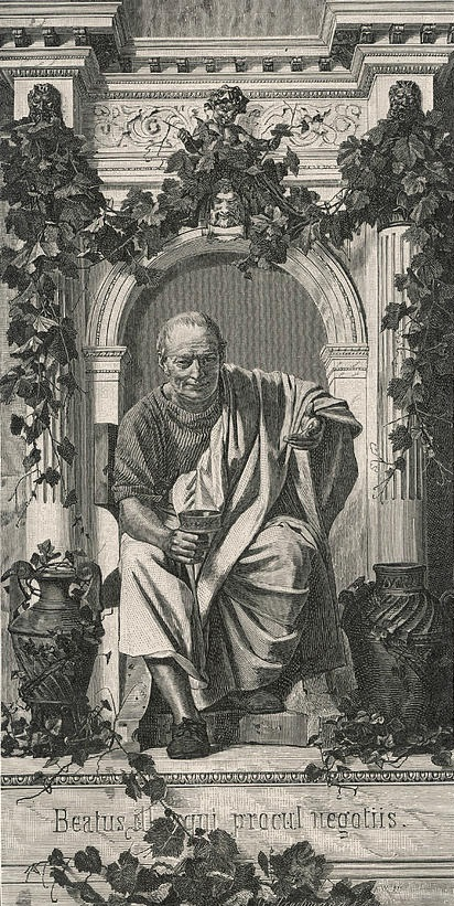 Horace, as imagined by Anton von Werner. - Wikipedia