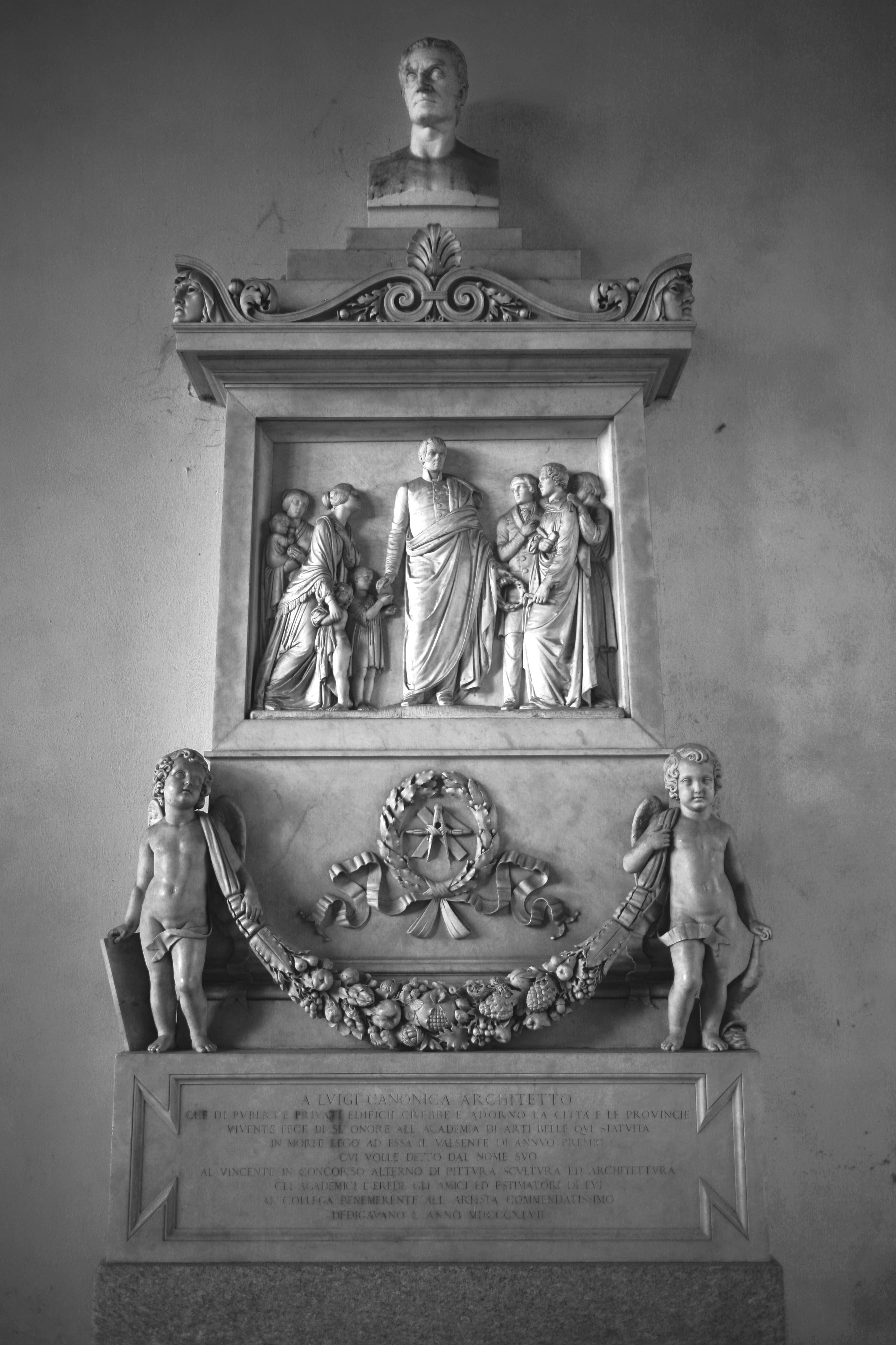 File raffaele monti monumento a luigi canonica 1847 for Belle arti milano brera