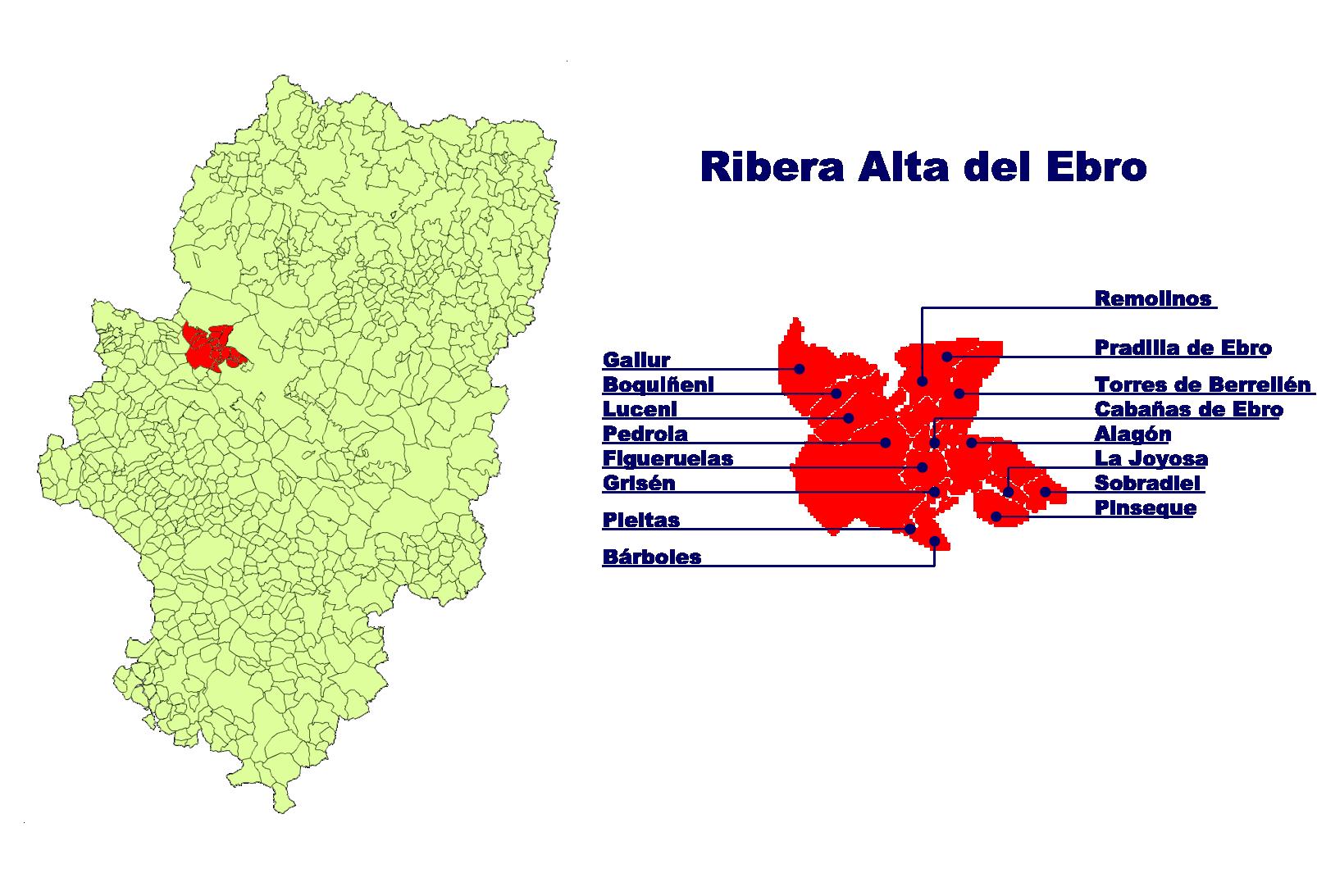 Depiction of Ribera Alta del Ebro