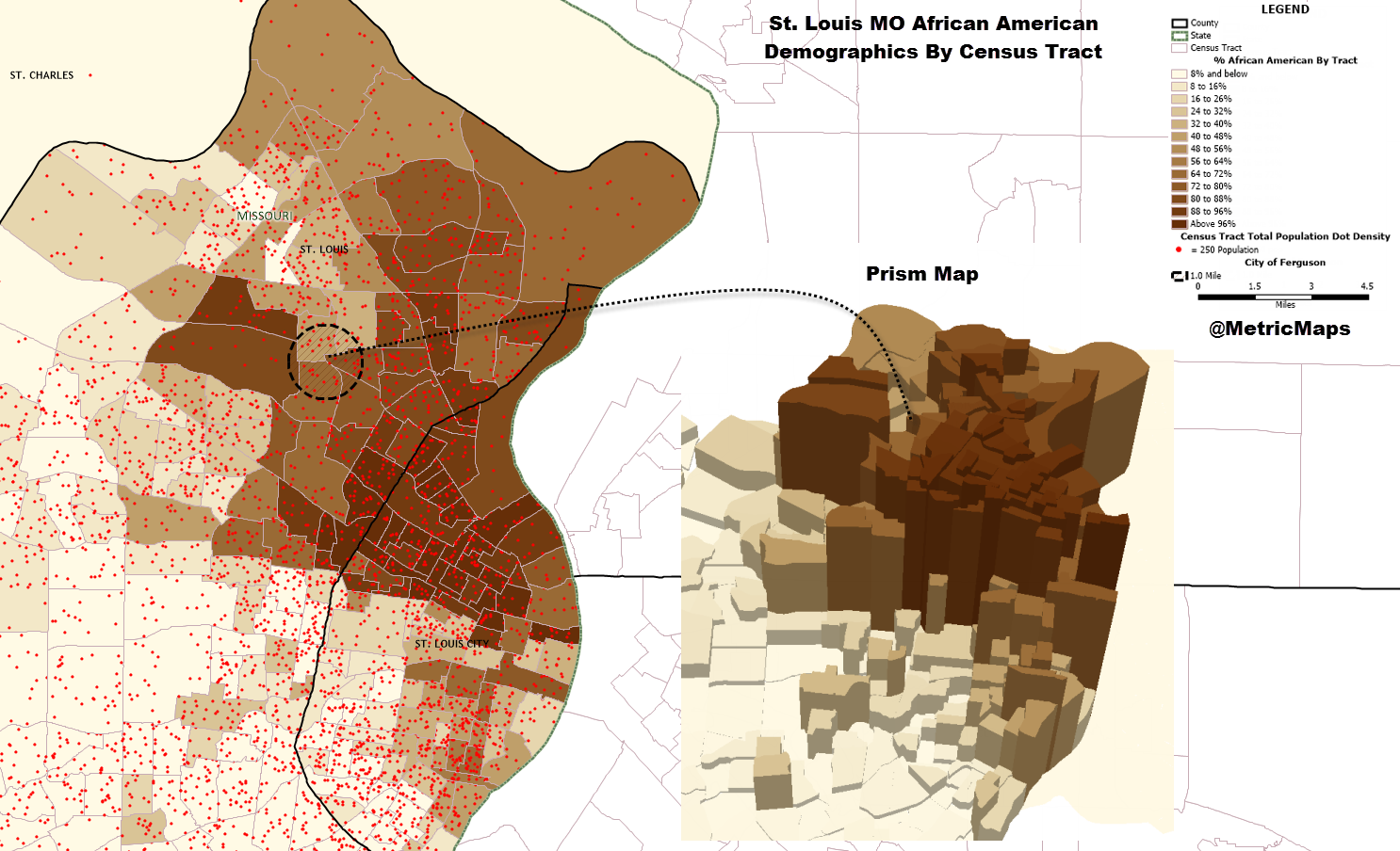FileSaint Louis Demographic African American By Census Tractpng - St louis missouri on map of us