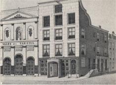 Salon des Variétés in de Amstelstraat. Aquarel van J.M.A. Rieke uit 1891.