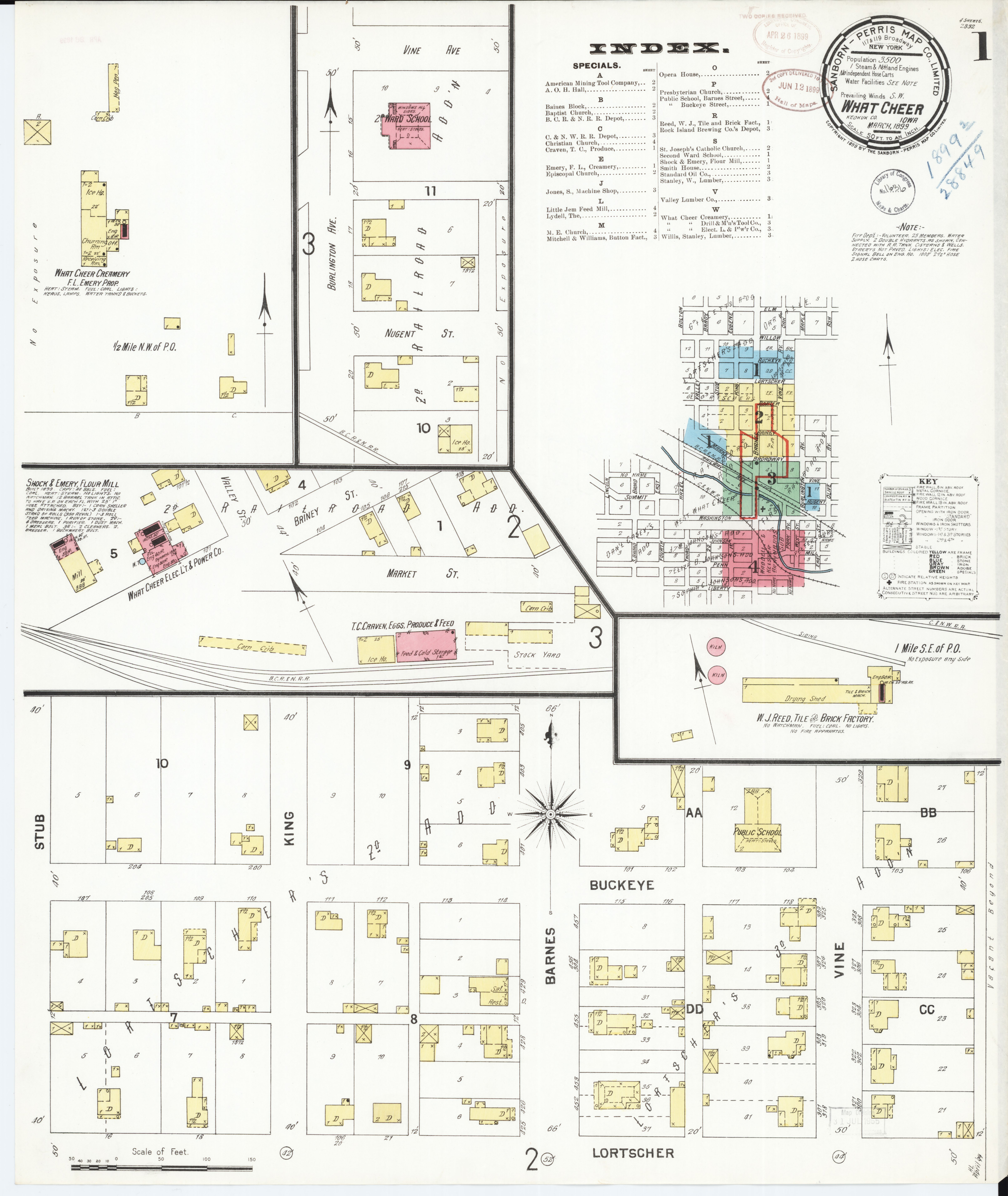 File Sanborn Fire Insurance Map From What Cheer Keokuk County Iowa