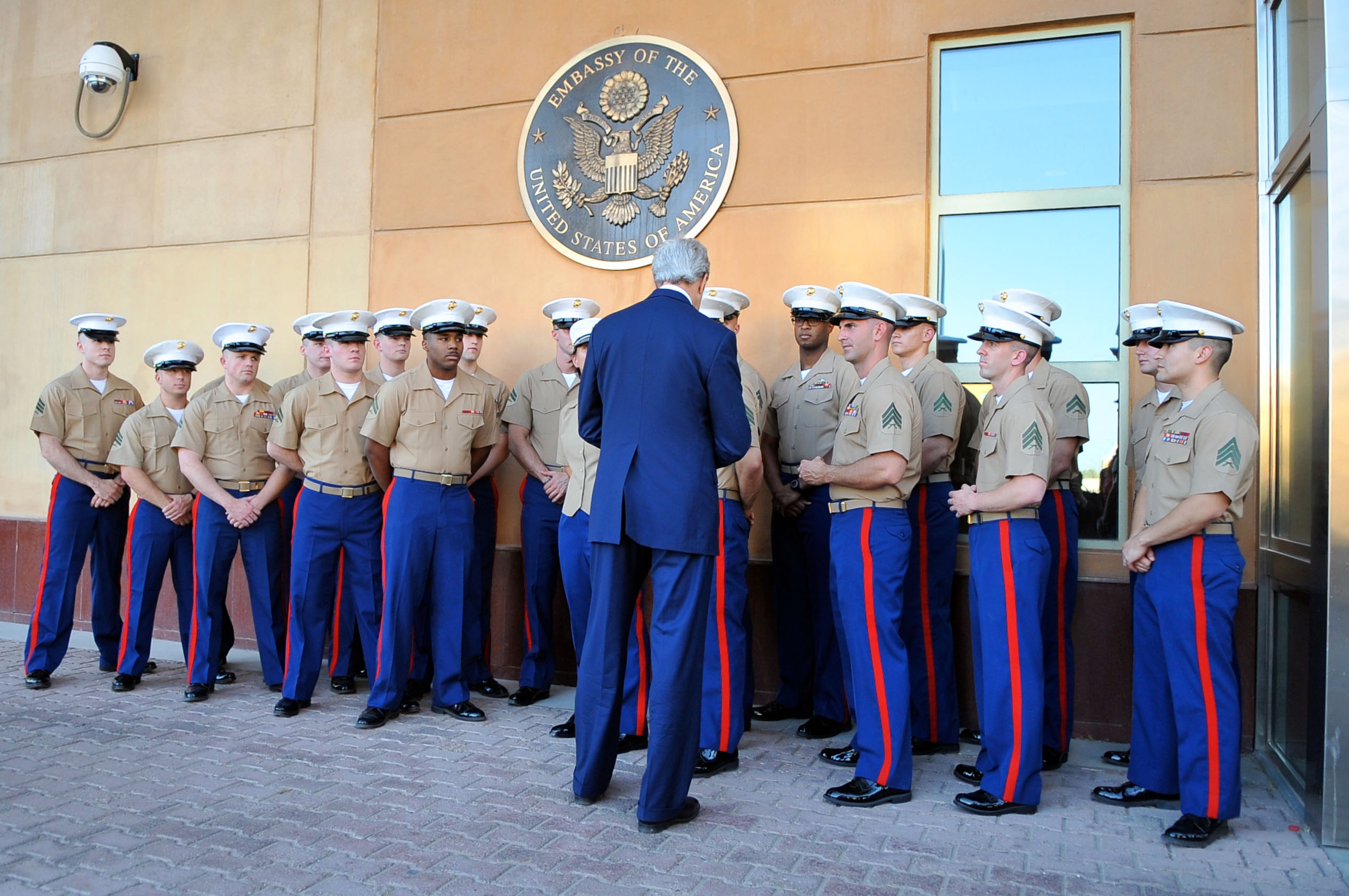 File:Secretary Kerry Thanks Embassy Baghdad Marine Security Guard ...