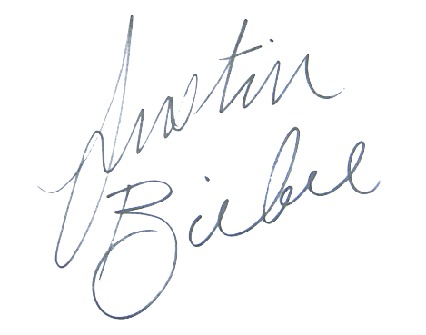 File Signature of Justin Bieber on canadian