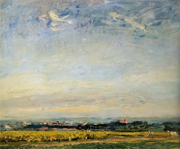 Krajobraz z widokiem na Landau