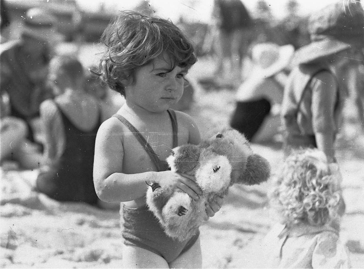 File Small With Toy Koala On The Sand Bondi Beach C