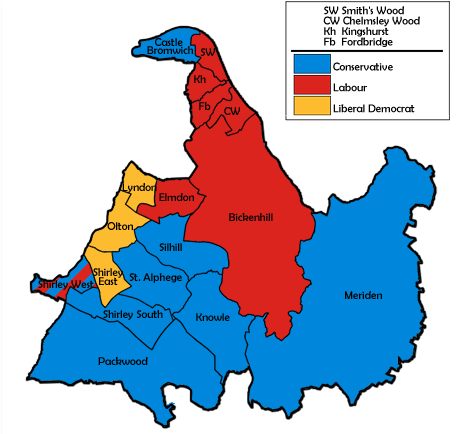 election map result with Solihull Metropolitan Borough Council Election  1998 on Index left additionally City of Bradford Metropolitan District Council election  1995 moreover The Search For Statutory Ulster additionally Nanded moreover 4644172.
