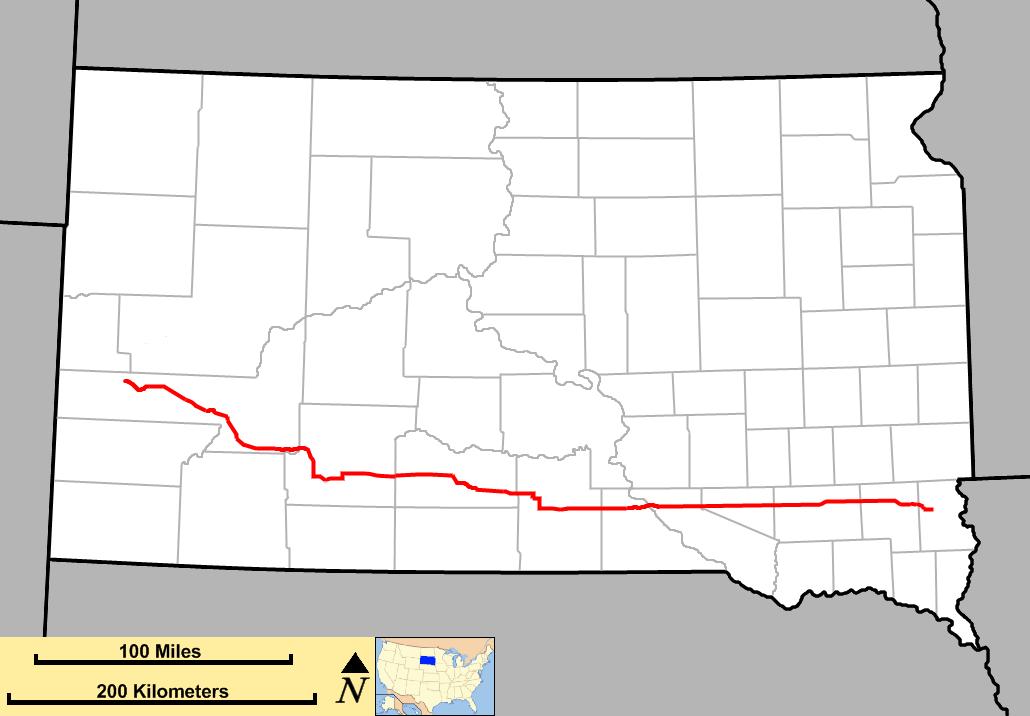 South Dakota Highway Wikipedia - South dakota road map