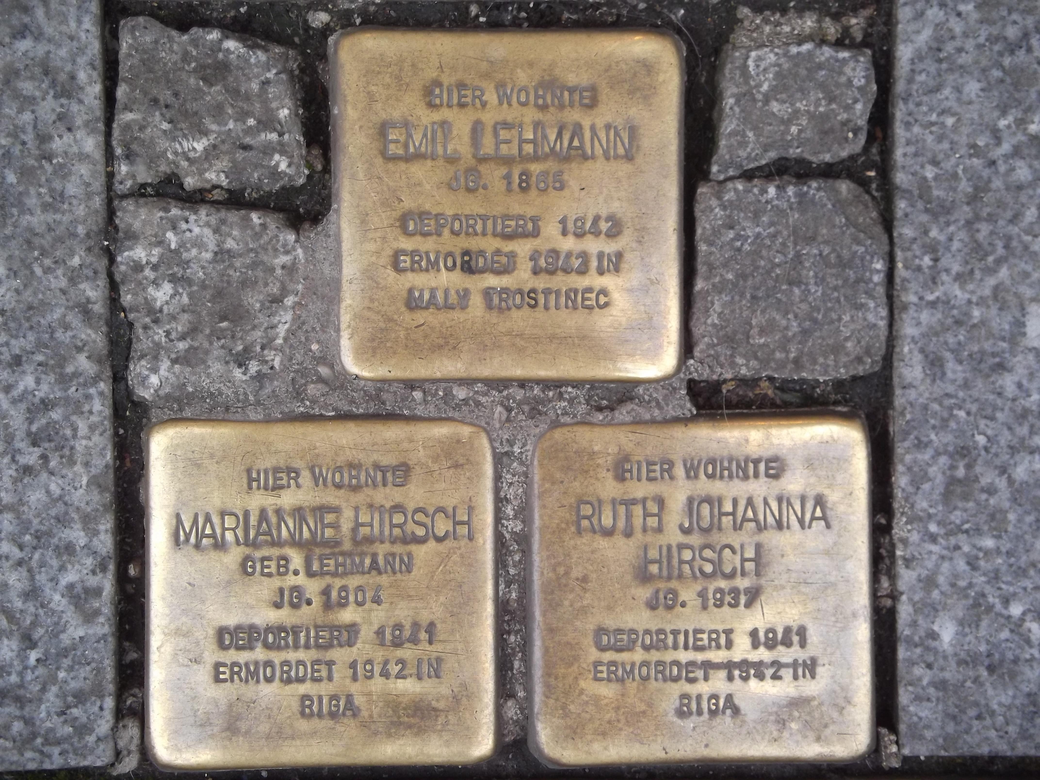 Stolperstein Neuss Innenstadt Büchel 5 3 Stolpersteine.jpg