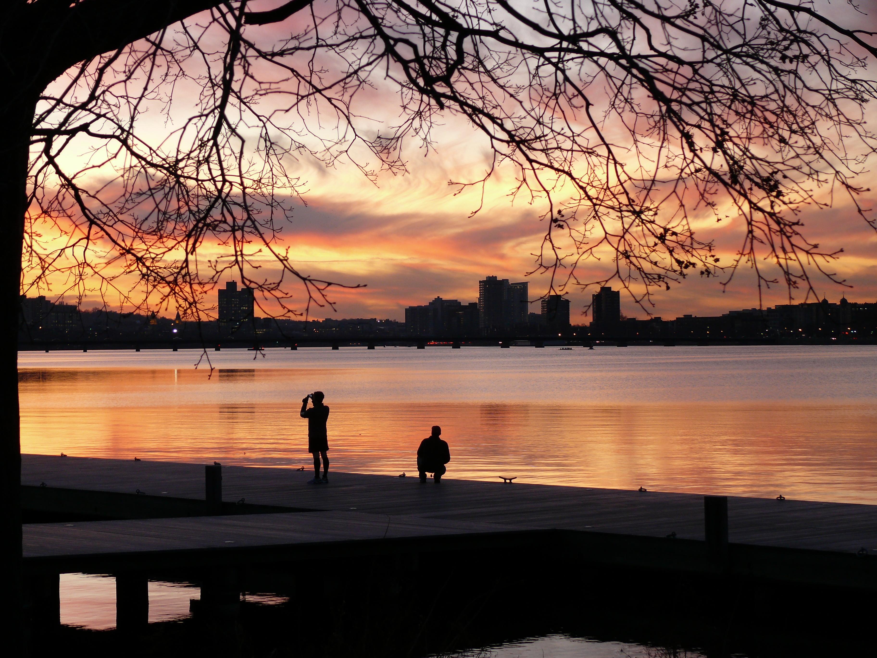 Sonnenuntergang am Charles River