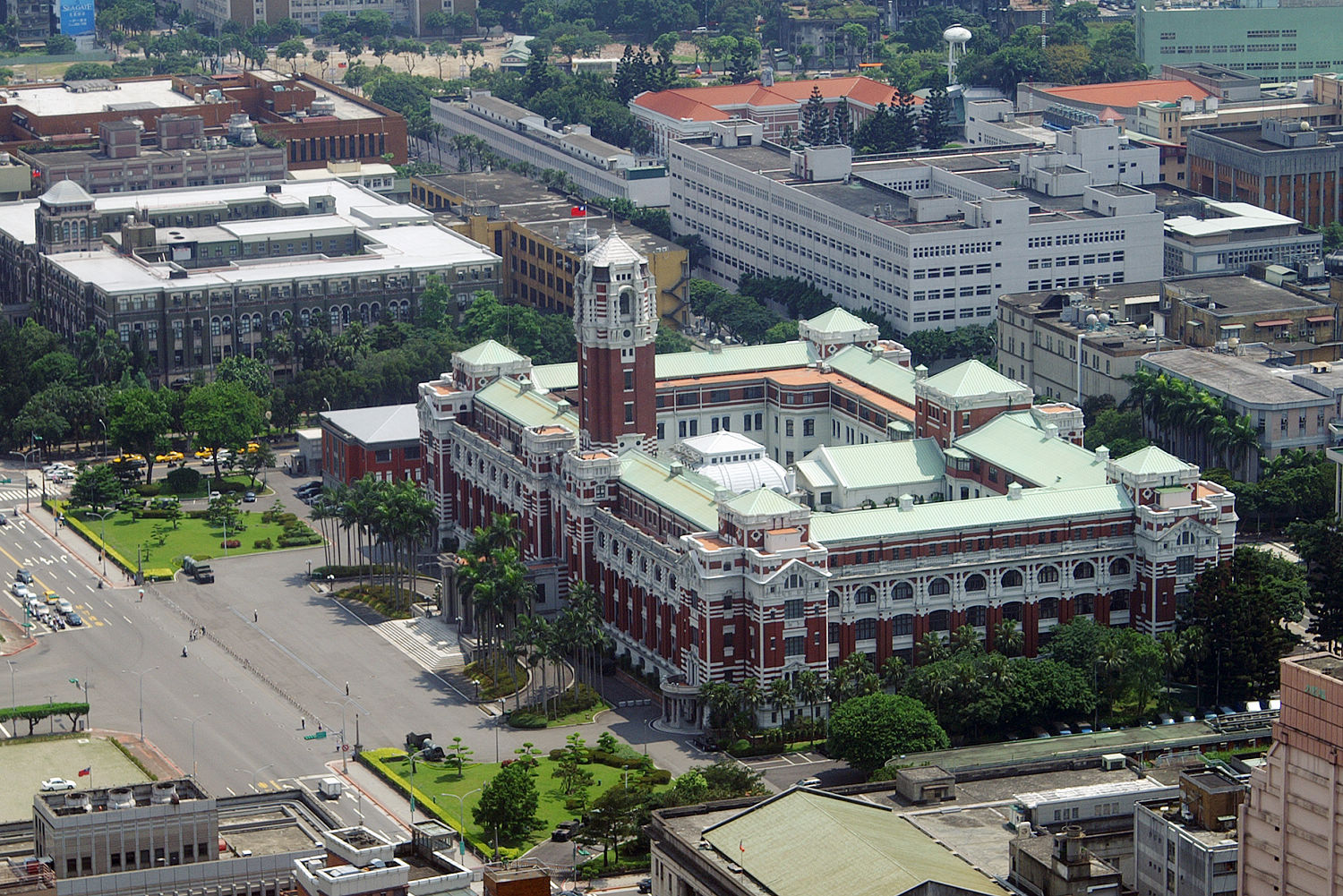 The ROC Presidential Office Building was originally built as the Office of the Governor-General by the Japanese government.