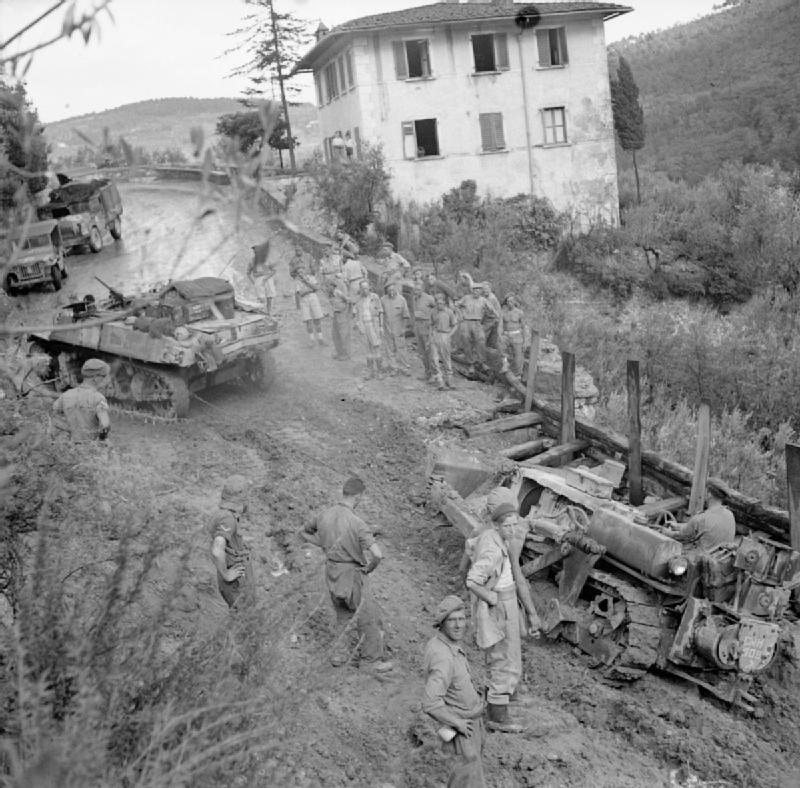 A turretless Stuart recon tank