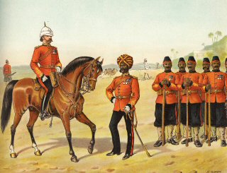 The Queen's Own Madras Sappers and Miners, 1896. The Queen's Own Madras Sappers and Miners, Review Order.jpg