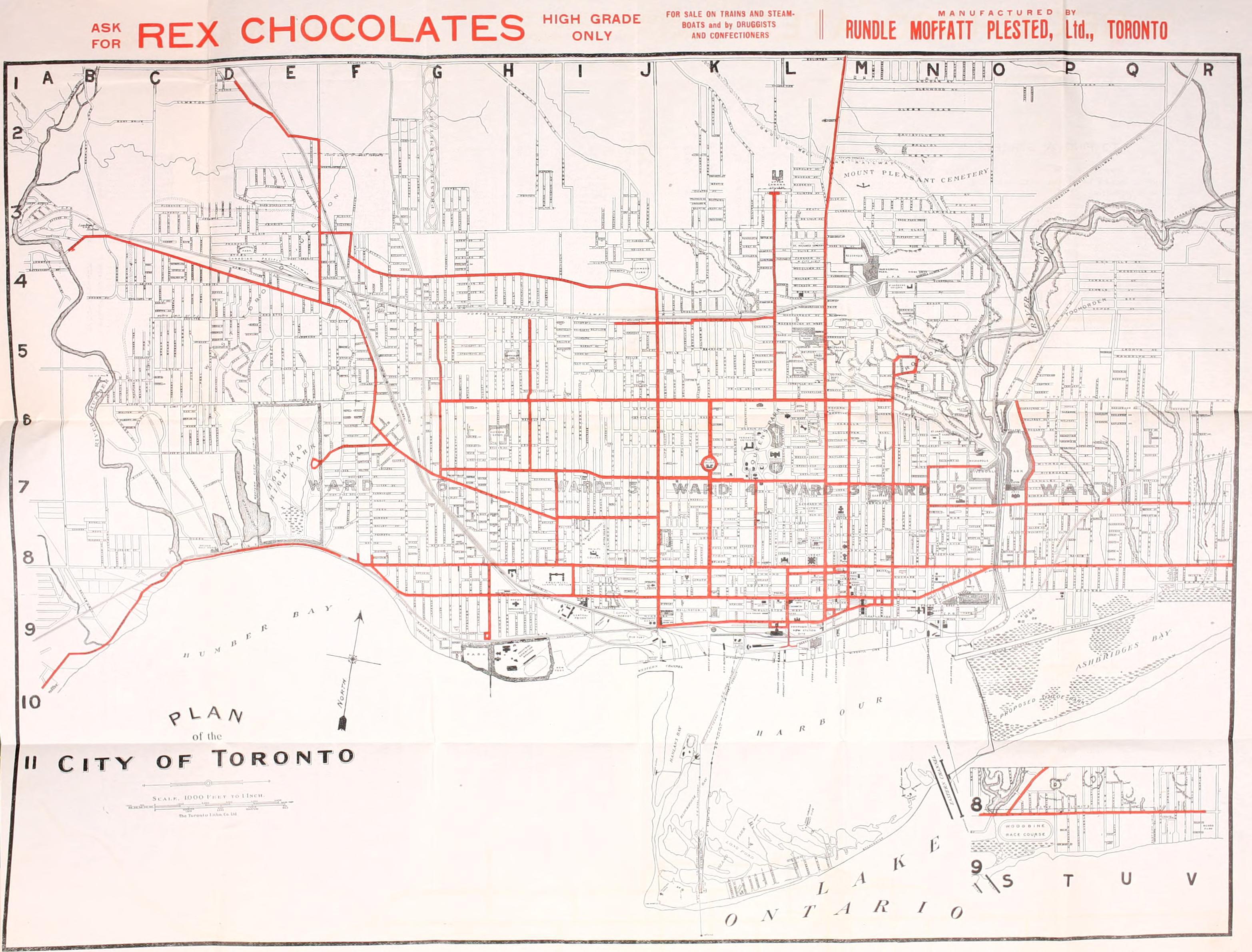Toronto Streetcar Map File:Toronto streetcar map  1912.   Wikipedia