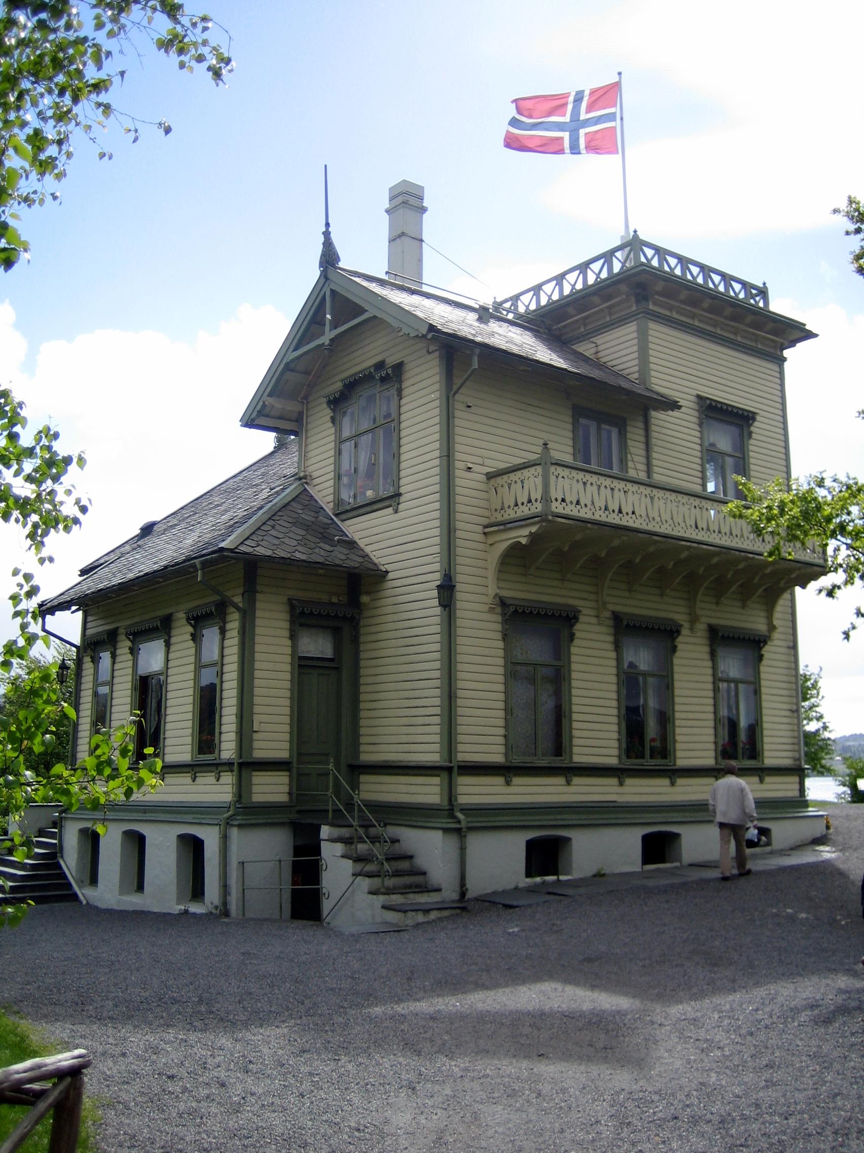 Casa de Grieg en Troldhaugen, Bergen (Noruega).