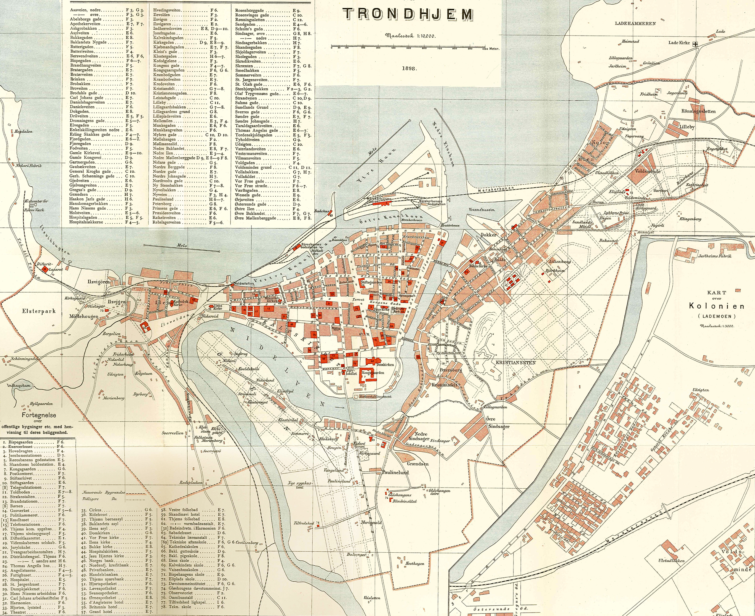 kart over trondheim by Soubor:Trondheim map 1898. – Wikipedie kart over trondheim by