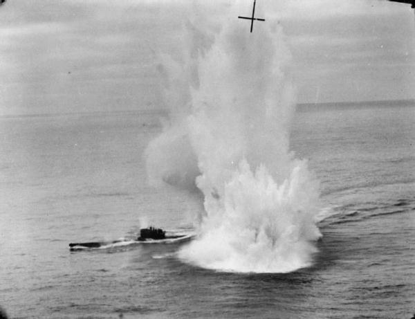 U-625 depth charges exploding.jpg