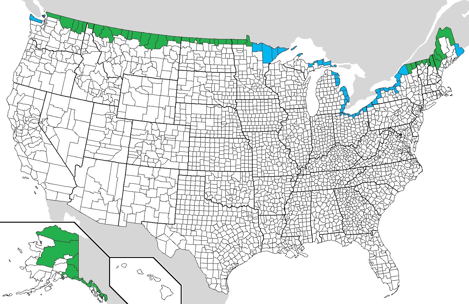 FileUSCanada border countiespng Wikimedia Commons