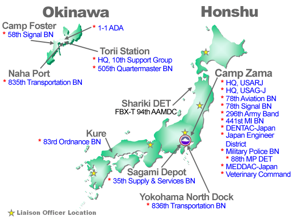 Us Military Bases In Japan Map - Us military bases in okinawa map