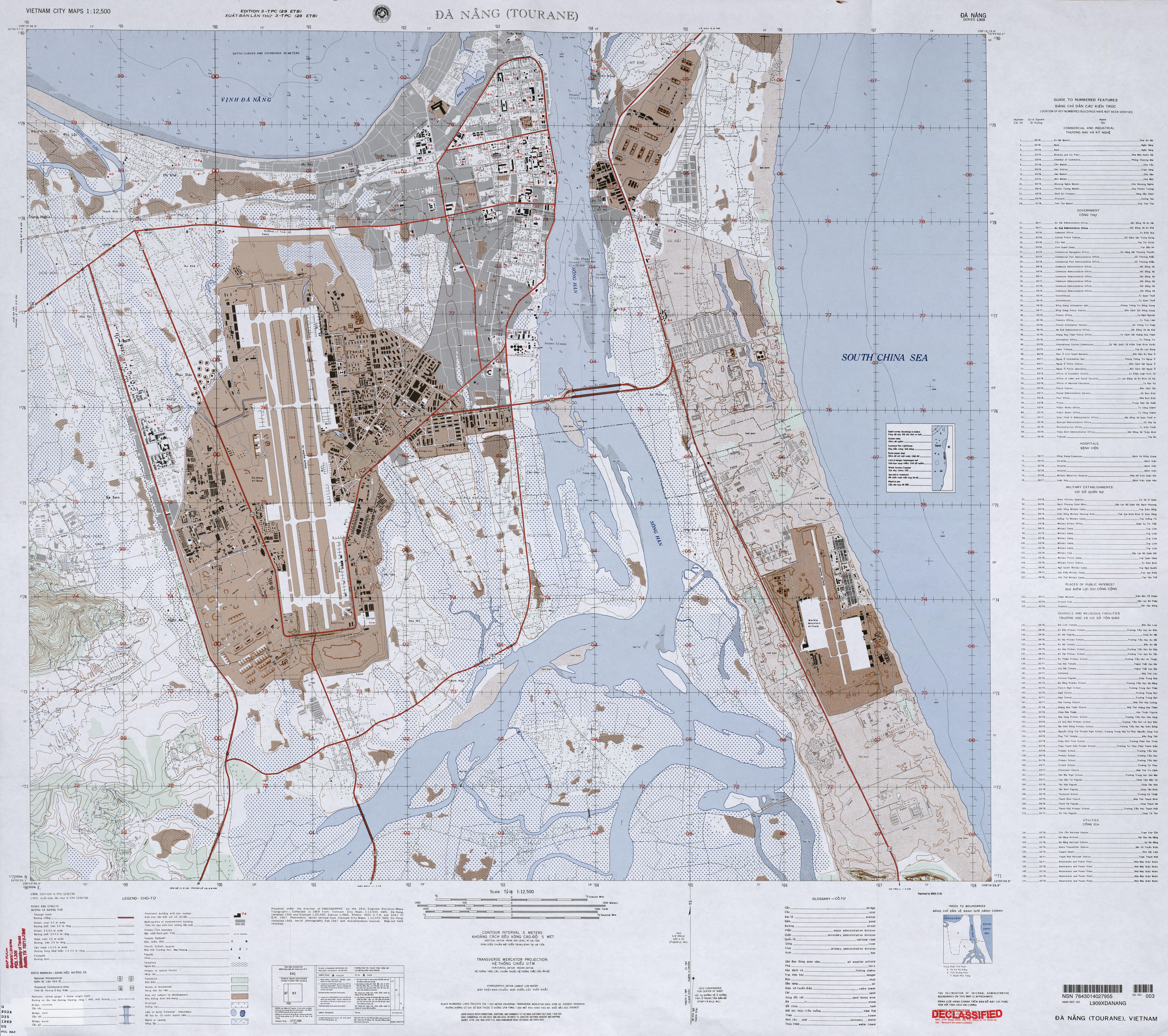 File Us Army Map Da Nang 1969 Jpg