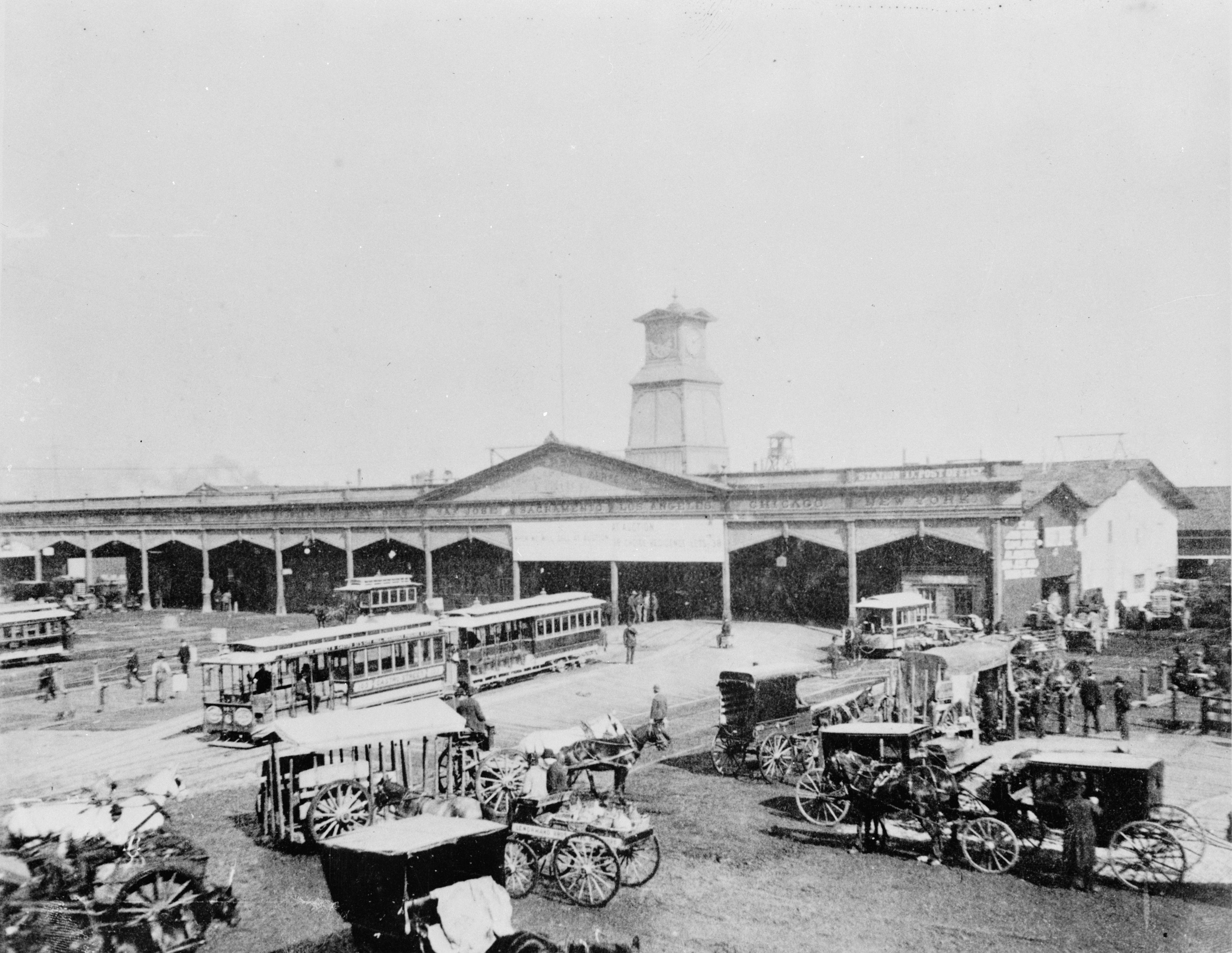 Union Depot & Ferry House, San Francisco, 1887.