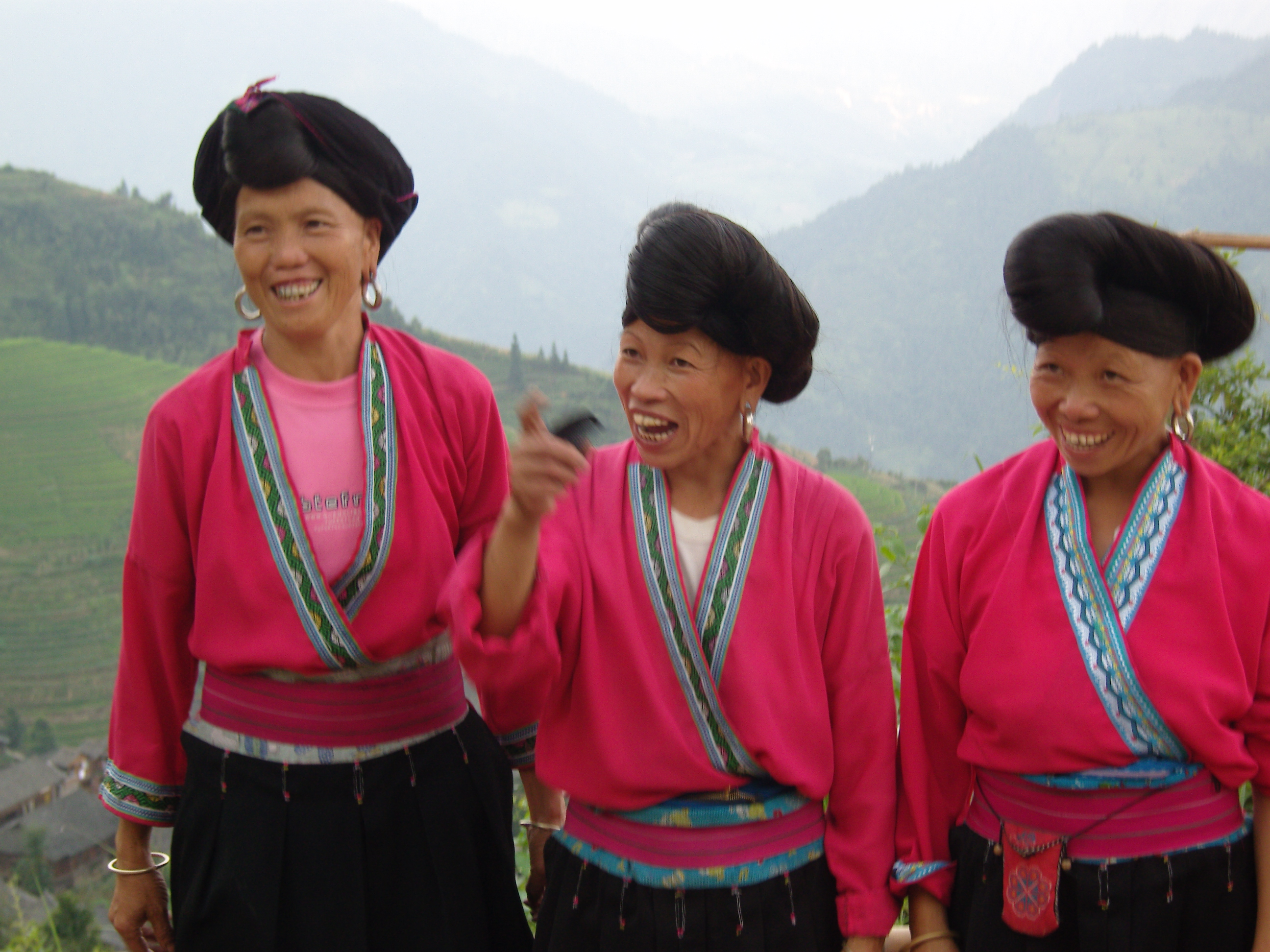 yao women Introductions of yao ethnic minority including history, traditional customs, archiecture, various festivals, etiquette and taboos and religious belief.