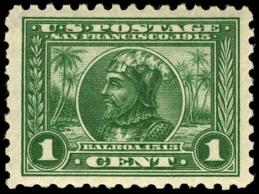 Balboa 1-cent, 1913 issue 1-cent Panama-Pacific Expo 1913 U.S. stamp.1.jpg