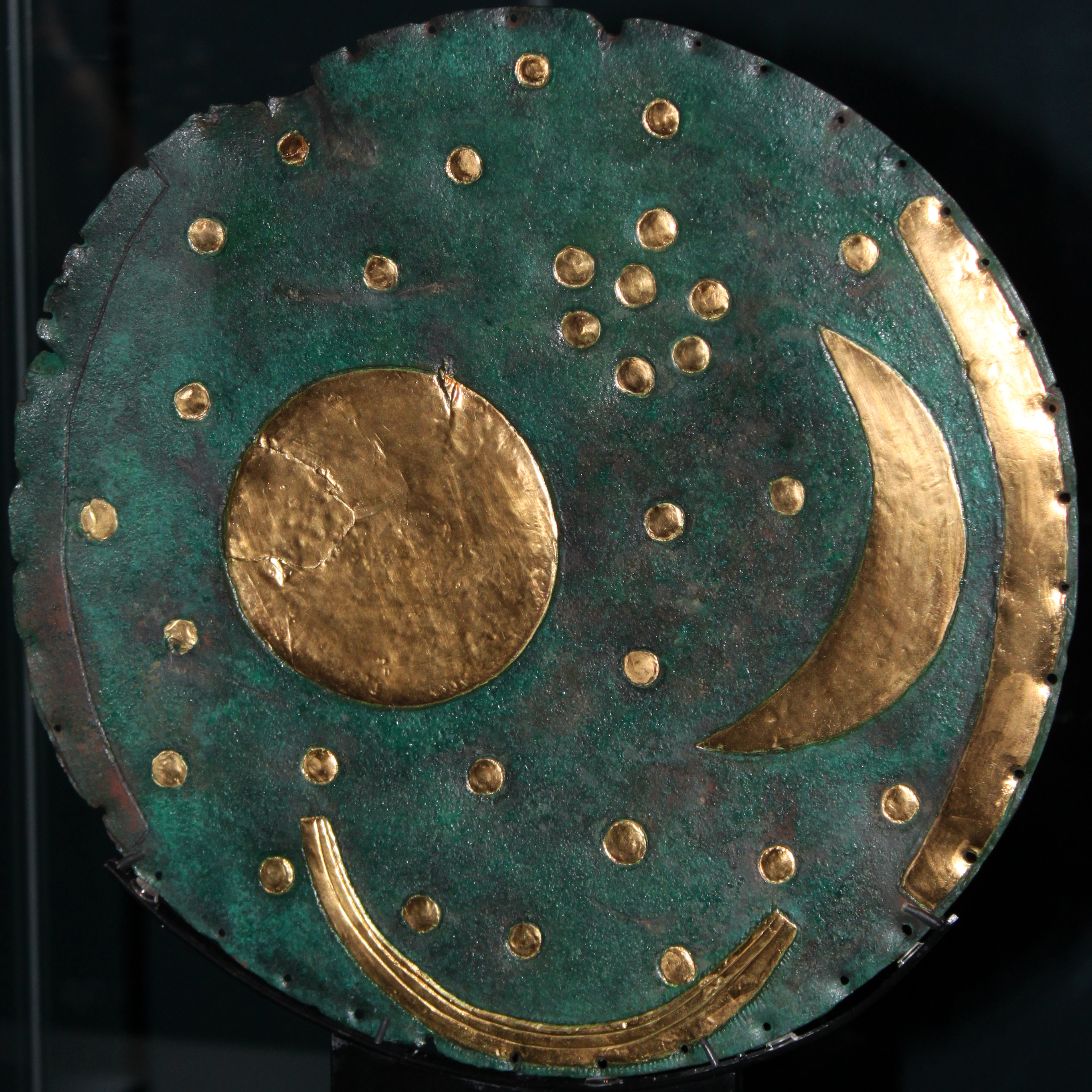 The Nebra Sky disk – CC BY 3.0 by Anagoria, Wikimedia Commons