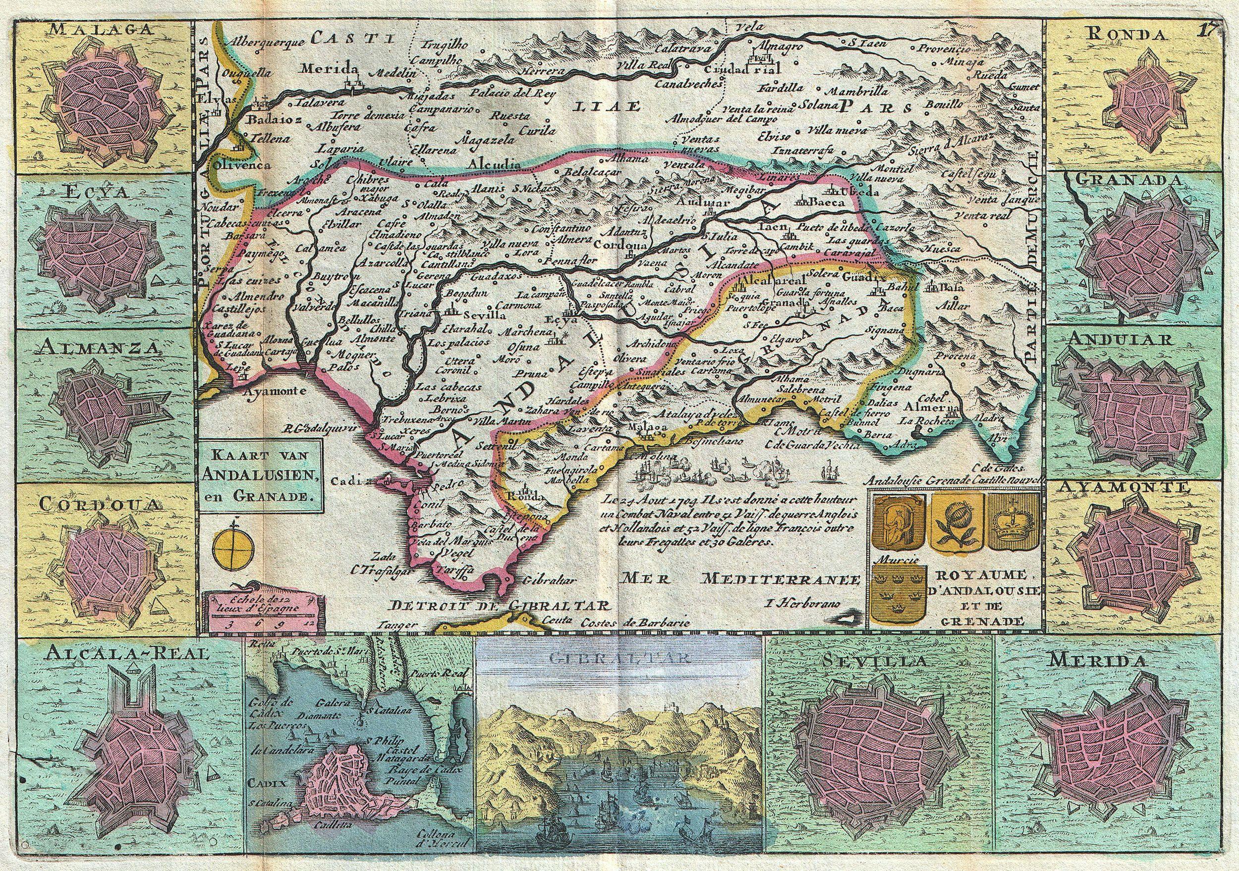 File:1747 La Feuille Map of Andalusia, Spain (Sevilla ...