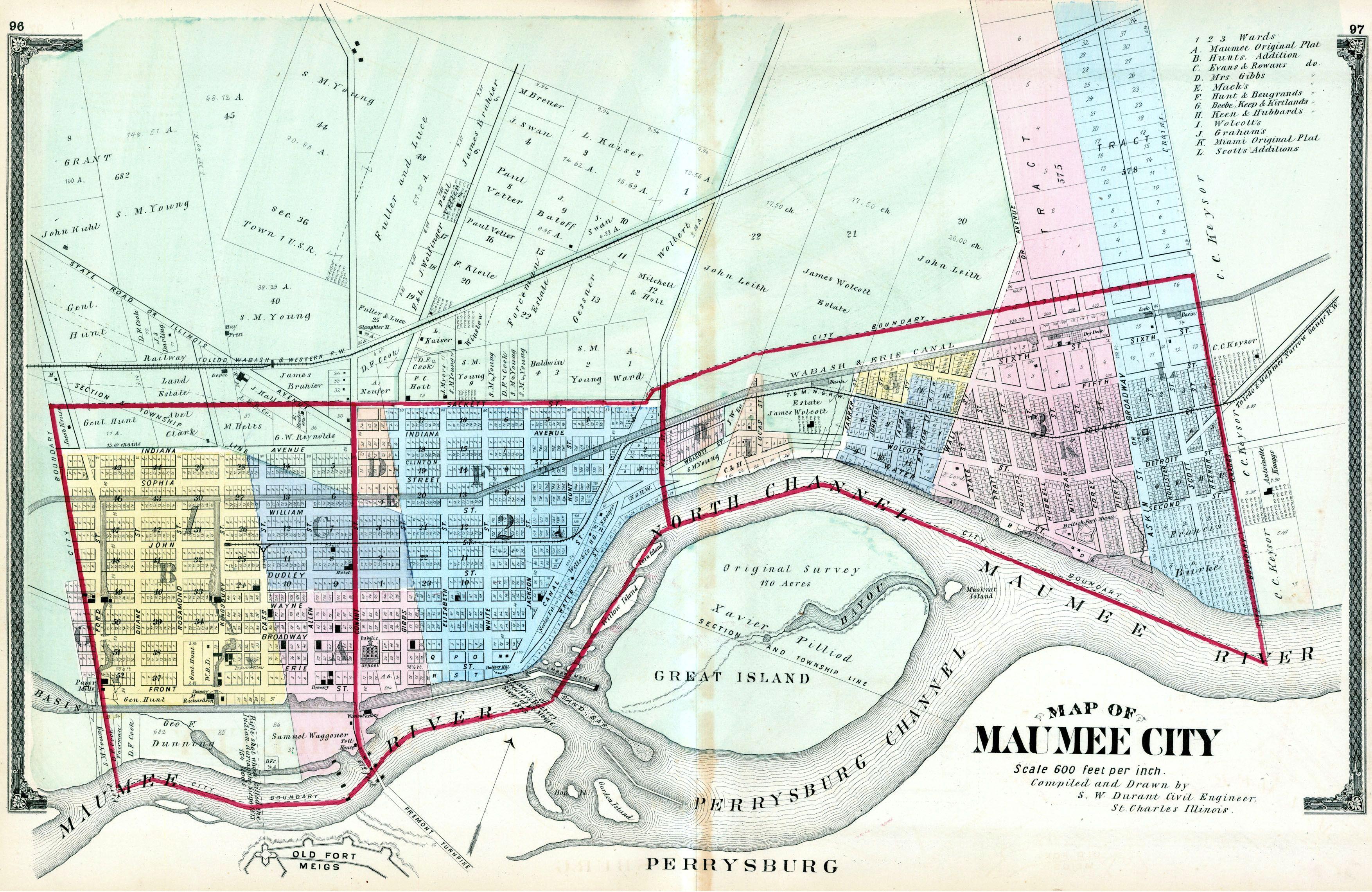 Ohio lucas county maumee - File 1875 Maumee Ohio Map Jpg