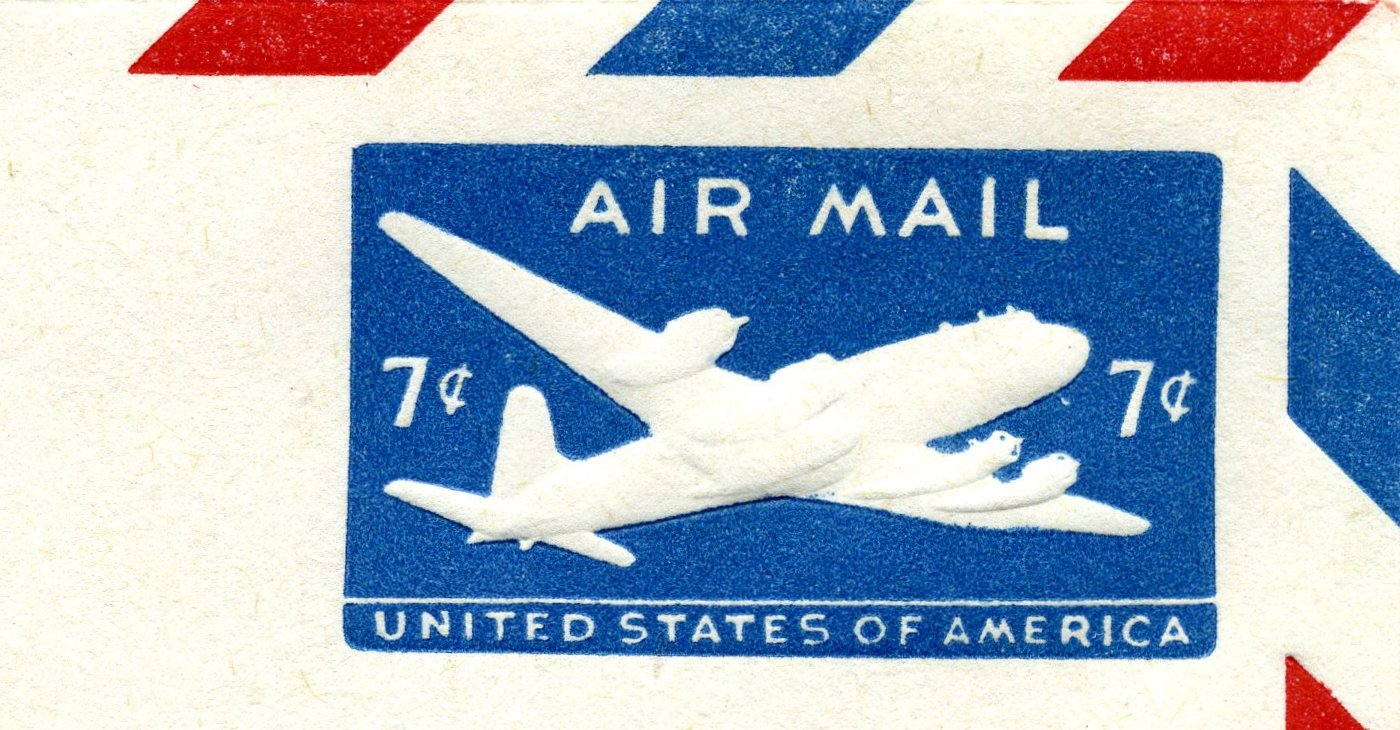 File:1958 US Airmail Stamped Envelope Indicium - 7cents ...