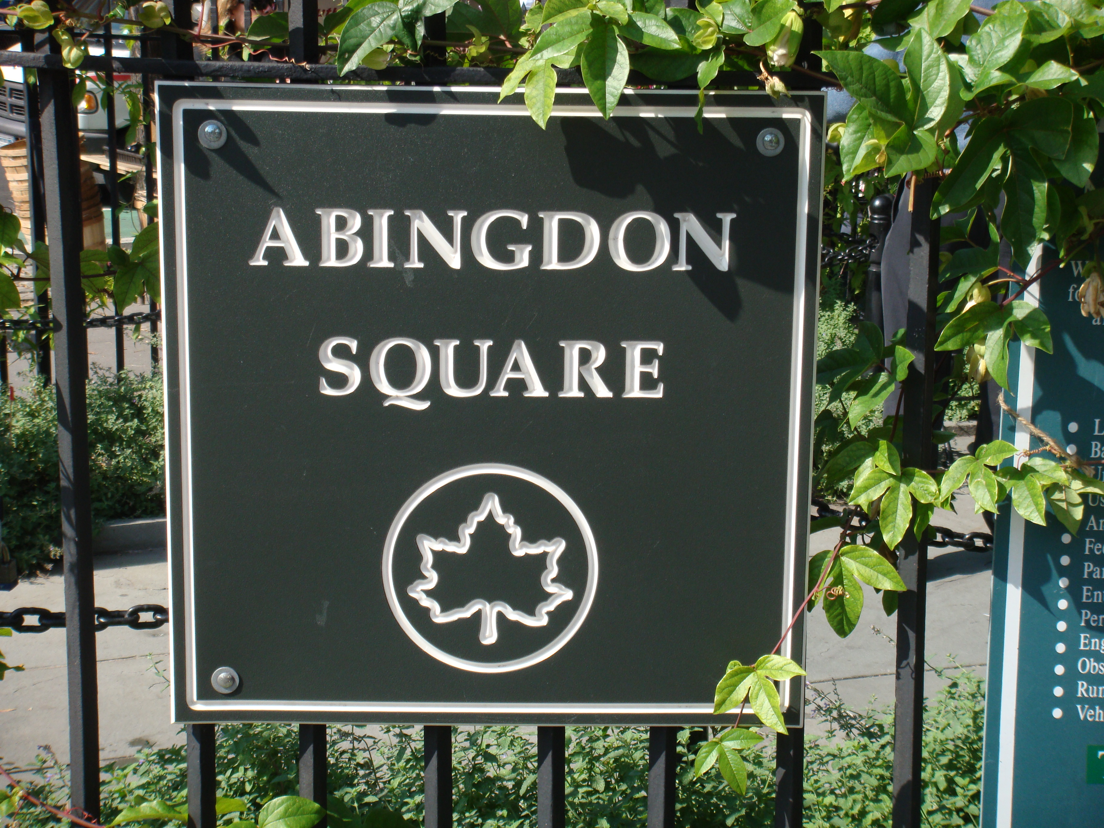 file abingdon square park nameplate manhattan new york city new