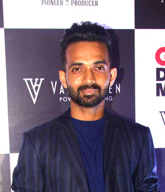 The 30-year old son of father Madhukar Baburao Rahane and mother Sujata Rahane  Ajinkya Rahane in 2018 photo. Ajinkya Rahane earned a  million dollar salary - leaving the net worth at 0.8 million in 2018