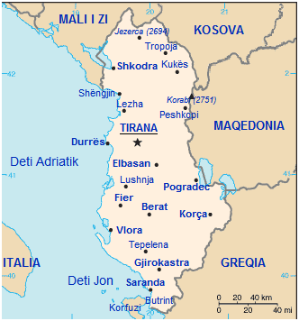 kart over albania Eksplosjonen i Tirana 15. mars 2008 – Wikipedia kart over albania