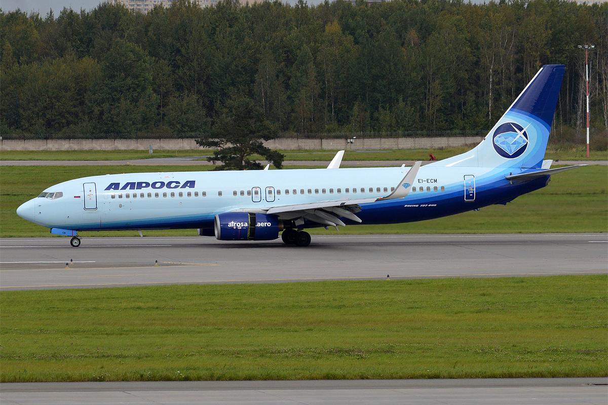 Avia, EI-ECM, Boeing 737-86N (25745832642) (2).jpg Alrosa Avia, EI-ECM, Boeing 737-86N Date 10 September 2016, 13:49 Source Alrosa Avia, EI-ECM, Boeing