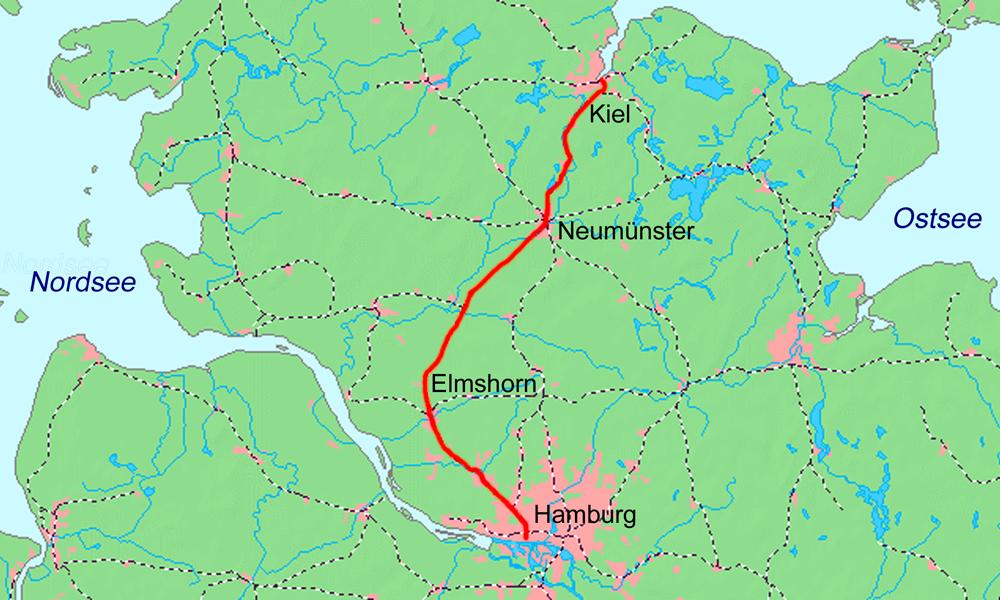 Bahnstrecke Hamburg Altonakiel Wikipedia