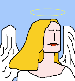 Angel with Halo מלאכית עם הילה