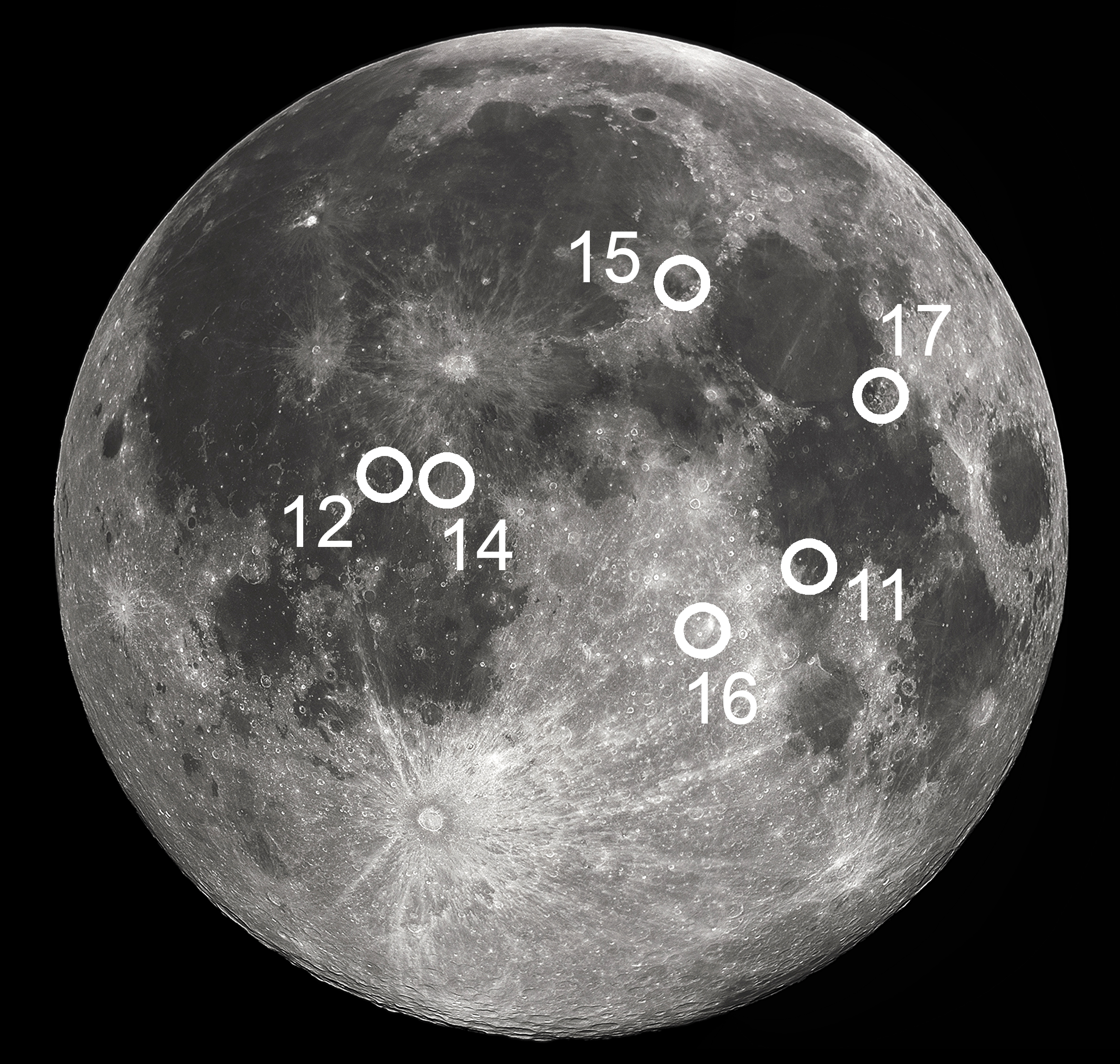 location moon map landing site apollo 12 - photo #10