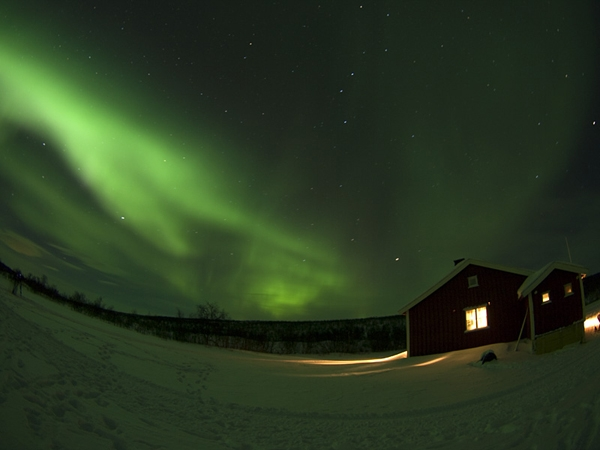 Aurora Borealis seen from Fairbanks, Alaska