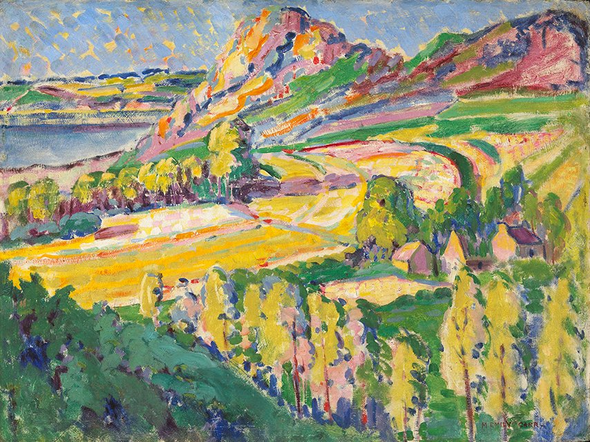 EMILY CARR (pintura) Autumn_in_France_Emily_Carr_1911