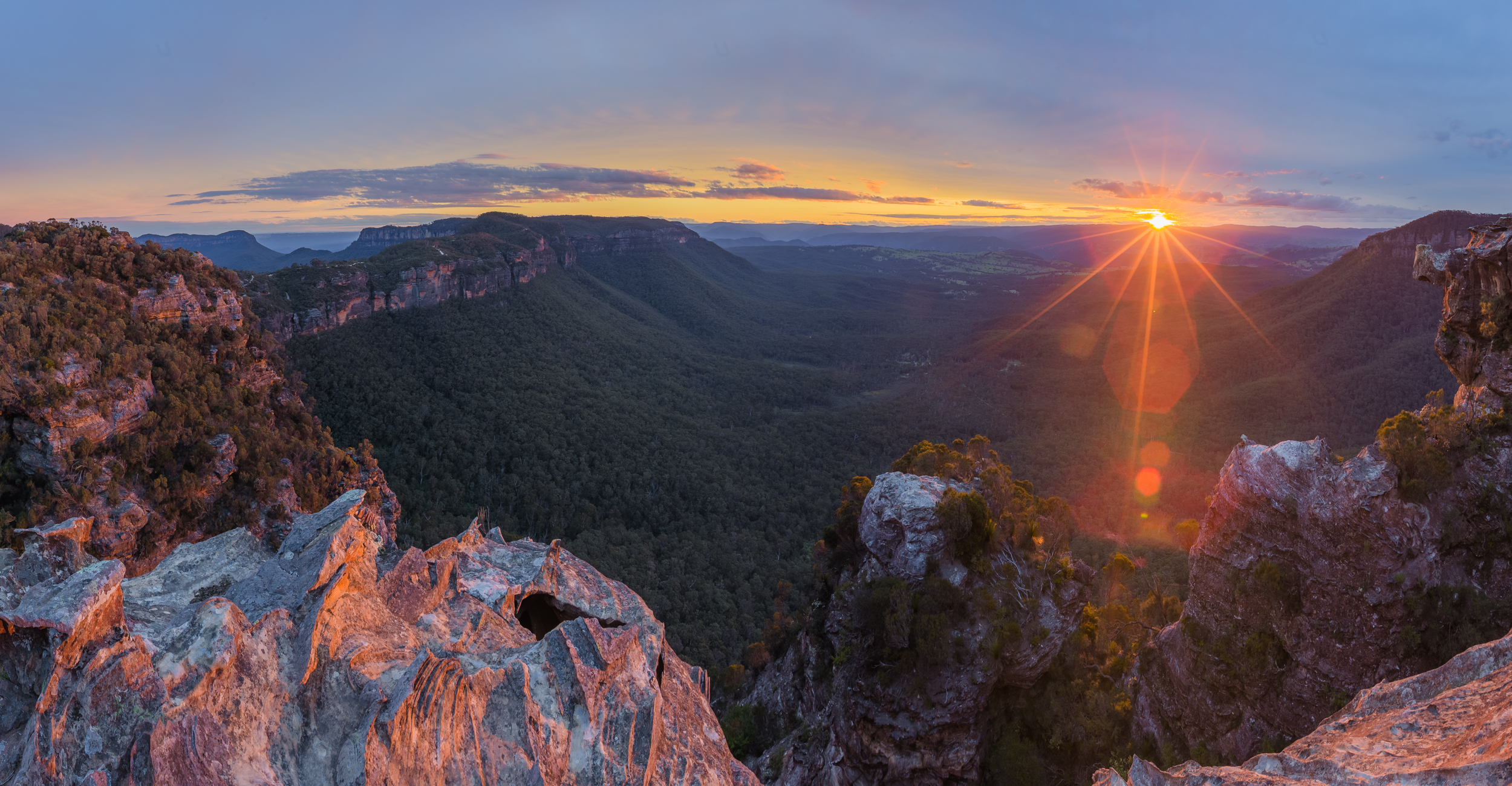 Blue Mountains sunset view