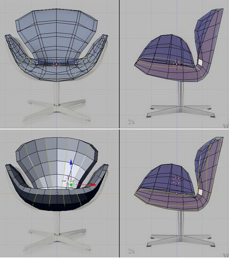 Blender 3d Noob To Pro Model A Chair The Seat Wikibooks