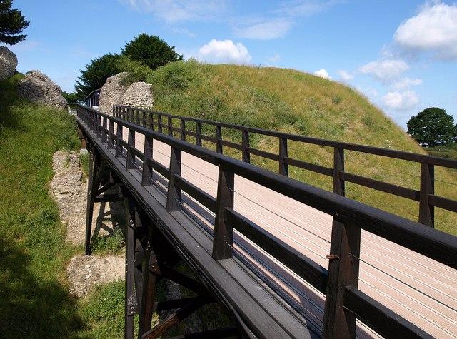 Bridge into Old Sarum castle - geograph.org.uk - 1400381
