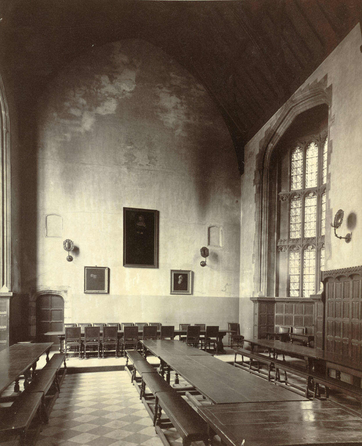 File:Cambridge. Christs College, Dining Hall (Interior ...